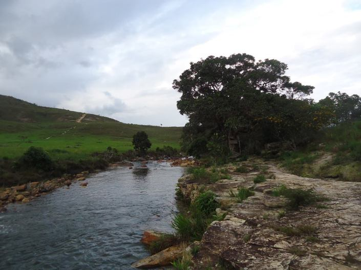 Rio Tek, primeiro acampamento.